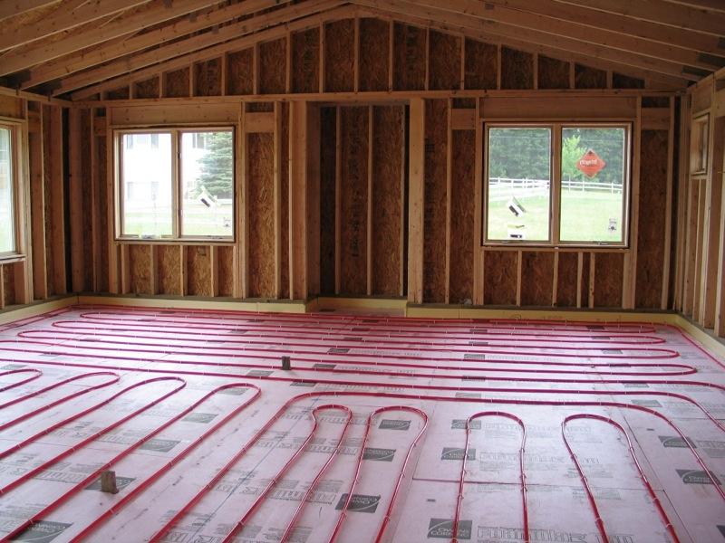 Теплый пол для загородного дома своими руками